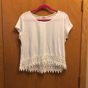Lace bottom t-shirt